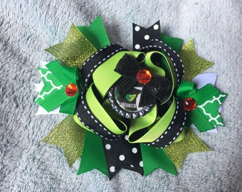 Extra Large Wicked Witch of the West Boutique Hair Bow