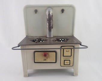 1950's MFZ Martin Fuchs Zindorf German Tin Plate Toy Range Cooker