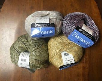 Berroco Elements Yarn, Berroco Yarn, Elements Yarn,Soft Yarn,Glimmer Yarn, Fashion Yarn, Novelty Yarn, Textured Yarn,Colorful Yarn,Thin Yarn