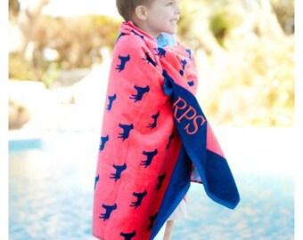 Monogram Beach Towel, Personalized Beach Towel, monogram pool towel anchor monogram, dog towel, preppy, nautical, boat towel, bridal