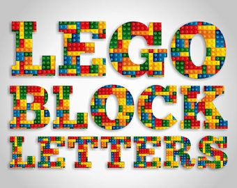 Lego alphabet clip art. Digital clip art can be used as graphic design elements or printable craft and scrapbooking embellishments