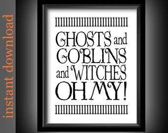 Halloween Printable, Halloween wall art, Halloween decor, Halloween typography, Halloween quote, funny Halloween, Halloween download, ghosts