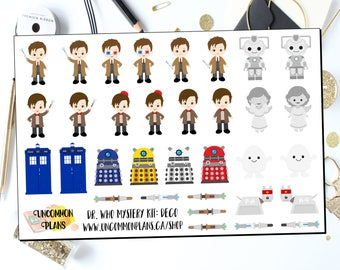 Dr Who Decorative Planner Stickers / Dr Who Deco Stickers / Happy Planner Stickers / Erin Condren Planner Stickers / Doctor Who Stickers