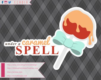Under a Caramel Spell - SVG, DXF and PNG for Cutting / Printing