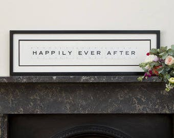 Happily Ever After Vintage Frame by VINTAGE PLAYING CARDS