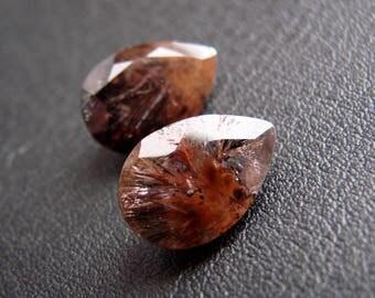 SUPER SEVEN Melody Stone 2 pcs Pear cut 4 cts (NP5)