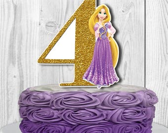 RAPUNZEL Cake Topper, Disney Princess Rapunzel Centerpiece, Disney Tangled Cake Topper, Tangled Cake Topper, Two-Sided PRINTABLE, You Print