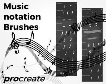 Music Notation Brushes - Procreate
