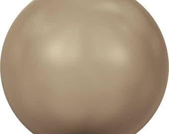 Bronze (3mm - 10mm) Swarovski Crystal Round Pearls #5810