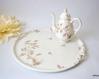 Victorian Tea Tray, Victorian Tea Party, Victorian Tableware, Victorian China, Victorian Teapot, c 1890s