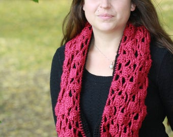 Reversible Lace Crochet Scarf