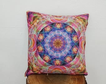 Printed Pillow Case Bright Colours Home Decor Cushion Covers 17x17