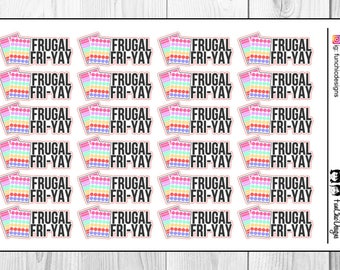 Frugal Fri-Yay Planner Stickers