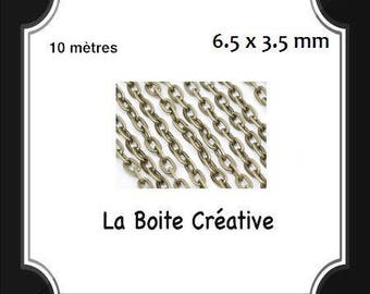 10 m METAL BRONZE color chain