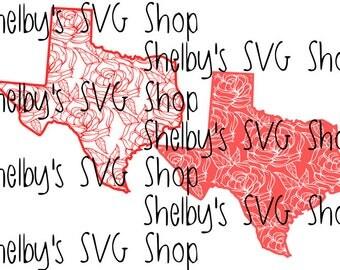 Texas - Floral - SVG