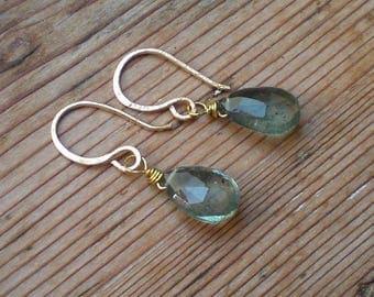 Natural Aquamarine earrings / untreated aquamarine / Aquamarine jewelry / Raw Aquamarine