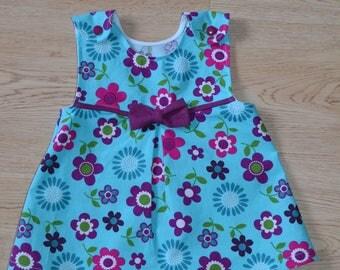 Girls Jumper Dress, Toddler Jumper Dress, Flowery Jumper Dress