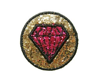 Diamond Embroidered Applique Iron on Patch
