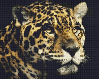 Jaguar Counted Cross Stitch Pattern / Chart, Instant Digital Download  (AP161)