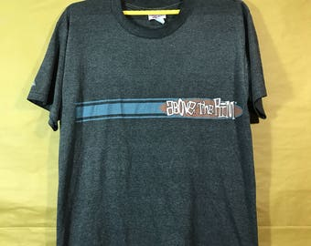 """Vintage Reebok Above The Rim Basketball T-shirt Blends Polyester Cotton Adult Large Size Chest 21.5"""""""