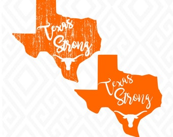 Texas Strong; SVG, DXF, EPS, Ai, Jpeg, Png, and Pdf Cutting Files for Electronic Cutting Machines