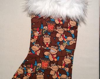 Donkey Kong Christmas Stockings!!!! Full Size Stockings!!