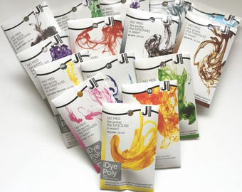 Jacquard iDye Poly Synthetic Fabric Stove Top Dye For Polyester and Nylon