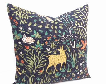 "Robert Allen Pillow | Robert Allen Folkland Fabric | Folkland Pillow Cover Only 16""x16"" 
