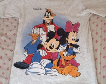 Vintage 90s Disney Mickey Mouse Florida t shirt