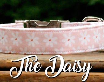 Dog Collar Floral, Spring Dog Collar, Summer Dog Collar, Flower Dog Collar, Girl Dog Collar, Daisy Dog Collar, Pink Dog Collar, Dog Collar