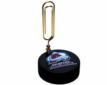 Colorado Avalanche NHL Hockey Puck Note Holder