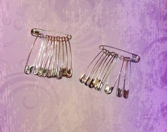 set of 20 safety pins / safety large size