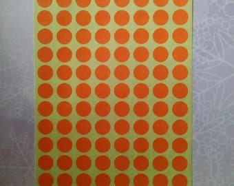 stickers round Orange