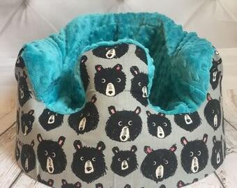 Teddy Bear Teal Bumbo Cover
