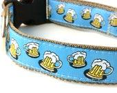Beer Dog Collar   Boy Dog Collar   Beer Leash   Beer Harness   Blue Dog Collar   Personalized Dog Collar   Custom Dog Collar   Dog Collar
