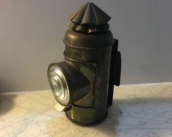 "Vintage Brass Perko "" Boat Signal"" Lamp"