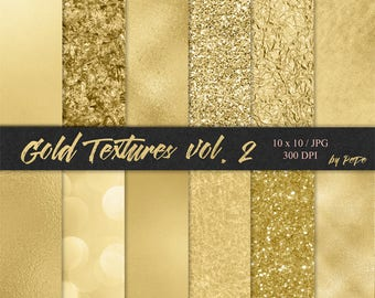 BUY 3 FOR 8 USD, Gold digital papers, foil background, glitter textures, realistic gold, glam patterns, gold foil, gold sparkles, download