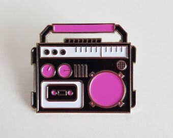 Boombox Enamel Pin