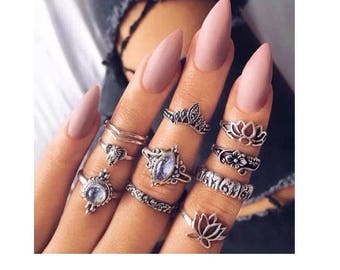 LOTUS: 10pc ring set