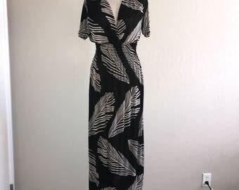 1990's Vintage Tropical Maxi Dress -Wm Sz: S/M