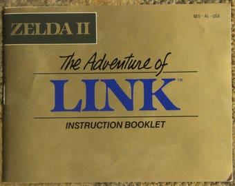 Original 'Zelda II: The Adventure of Link' Instruction Manual (Nintendo Entertainment System - NES)
