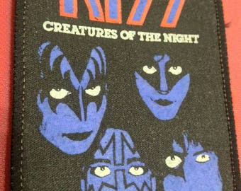 Kiss !! Creatures of the night , vintage patch 80s . Kiss