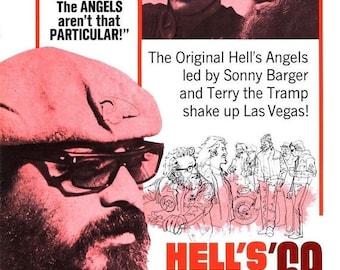 Back to School Sale: HELLS ANGELS '69 Movie Poster Biker Exploitation