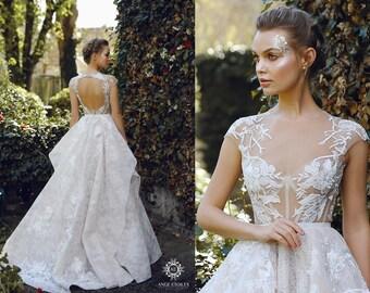 Grey wedding dress   Etsy