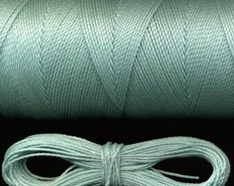10 meters waxed thread number 231 Linhasita, green