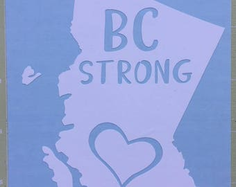 BC Strong Car Decal - BC Wildfires - Red Cross Donation Decal