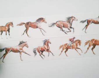 Design Washi tape horse riding masking tape