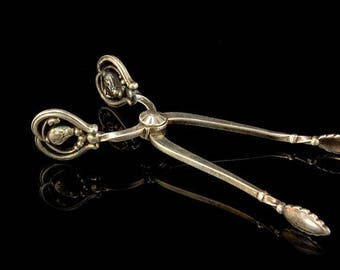 Vintage Denmark Georg Jensen Sterling Silver Sugar Tongs A250