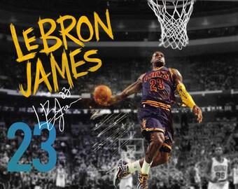LeBron James Poster Cleveland Cavaliers 23 Photo Art Print (24x18)