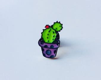 Sale | Cactus | Plant | Tropical | Pin | Badge | Retro | Hipster | Upcycle | Accesory | Modify